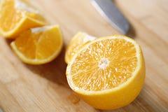 Primo piano arancione fresco Fotografie Stock Libere da Diritti