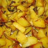 Primo piano arrostito delle patate fotografie stock