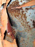 Primo piano arrugginito del metallo della sbucciatura Fotografie Stock Libere da Diritti