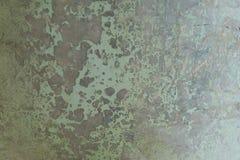 Primo piano astratto di vecchia struttura della parete del metallo della patina Immagine Stock