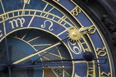 Primo piano astronomico dell'orologio Fotografia Stock
