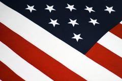 Primo piano, bandiera americana Fotografia Stock
