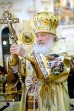 Primo piano benedetto Kirill del patriarca Fotografie Stock Libere da Diritti