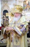 Primo piano benedetto Kirill del patriarca Fotografie Stock