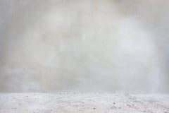 Primo piano bianco del pavimento e del muro di cemento Fotografia Stock