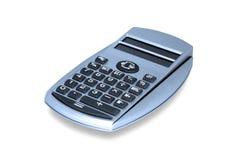 Primo piano blu del calcolatore Immagine Stock