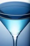 Primo piano blu del cocktail Immagini Stock
