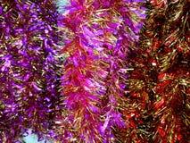 Primo piano brillante del lamé del nuovo anno Fotografie Stock