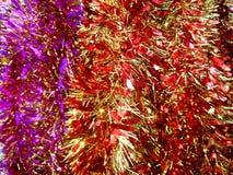 Primo piano brillante del lamé del nuovo anno Fotografia Stock