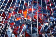 Primo piano caldo del BBQ immagine stock libera da diritti