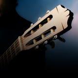 Primo piano capo della chitarra Fotografie Stock Libere da Diritti