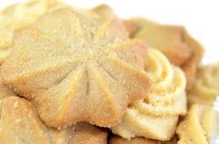 Primo piano casalingo dei biscotti di burro Immagine Stock