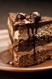 Primo piano casalingo della torta di cioccolato Fotografia Stock