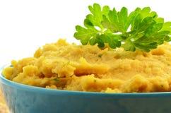 Hummus casalingo fresco Fotografie Stock
