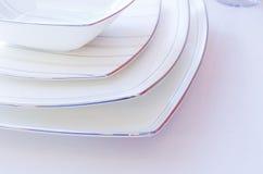 Primo piano ceramico dei piatti Fotografia Stock Libera da Diritti
