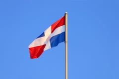 Primo piano che si evolve in bandiera del vento Immagini Stock Libere da Diritti