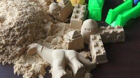 Primo piano cinetico della sabbia archivi video