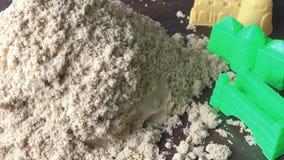 Primo piano cinetico della sabbia video d archivio