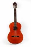 Primo piano classico della chitarra acustica Fotografia Stock Libera da Diritti