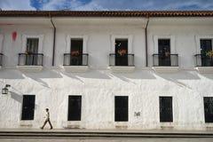 Primo piano coloniale di architettura in Colombia Fotografie Stock Libere da Diritti