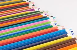 Primo piano colorato delle matite Fotografie Stock Libere da Diritti