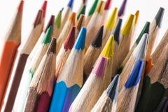 Primo piano colorato delle matite Immagini Stock