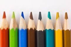 Primo piano colorato delle matite Immagine Stock
