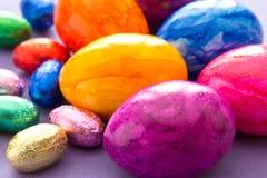 Primo piano Colourful delle uova di Pasqua Fotografia Stock Libera da Diritti
