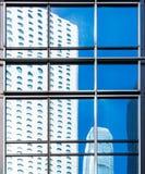 Primo piano commerciale della finestra delle costruzioni Fotografia Stock
