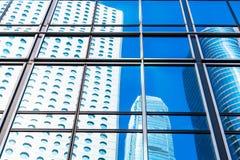 Primo piano commerciale della finestra delle costruzioni Fotografie Stock