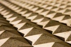 Primo piano concreto delle piramidi Fotografia Stock Libera da Diritti