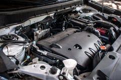 Primo piano costoso dell'automobile del motore Fotografia Stock Libera da Diritti