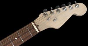 Primo piano crema della testa motrice della chitarra elettrica Fotografia Stock