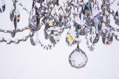Primo piano a cristallo del candeliere Immagini Stock