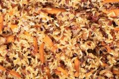 Primo piano cucinato di struttura del riso immagine stock libera da diritti
