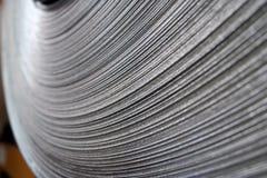 Primo piano d'acciaio della bobina Fotografia Stock
