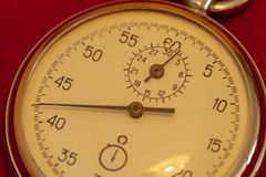 Primo piano d'annata del cronometro fotografia stock libera da diritti