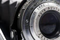 Primo piano d'annata dell'obiettivo Fotografia Stock
