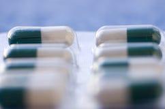 Primo piano degli antibiotici Fotografia Stock Libera da Diritti