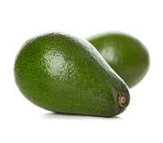 Primo piano degli avocado isolato su un bianco fotografia stock libera da diritti