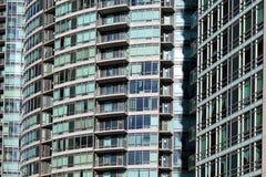Primo piano degli edifici residenziali Fotografia Stock