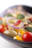 Primo piano degli ingredienti per alimento italiano famoso, tagliatelle Fotografie Stock