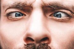 Primo piano degli occhi azzurri Fotografia Stock Libera da Diritti