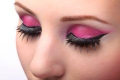 Primo piano degli occhi femminili Fotografia Stock