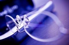 Primo piano degli occhiali Fotografia Stock Libera da Diritti