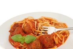 Primo piano degli spaghetti Immagini Stock