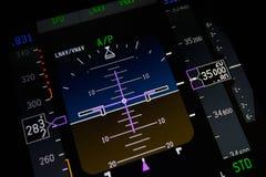 Primo piano degli strumenti dell'aeroplano Immagini Stock