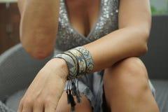 Primo piano dei braccialetti Fotografia Stock Libera da Diritti
