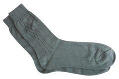 Primo piano dei calzini degli uomini grigi Immagini Stock Libere da Diritti