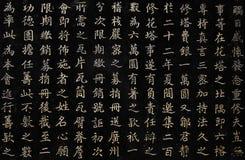 Primo piano dei caratteri cinesi Fotografia Stock
